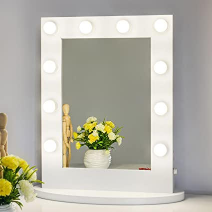 Chende hollywood tabletops lighted makeup vanity mirror with lights chende hollywood tabletops lighted makeup vanity mirror with lights dimmer white aloadofball Image collections