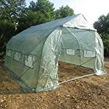 Teekland Greenhouse, 137'' x 118'' x 82'' Peaked Roof High-strength Greenhouse Tent Light Green