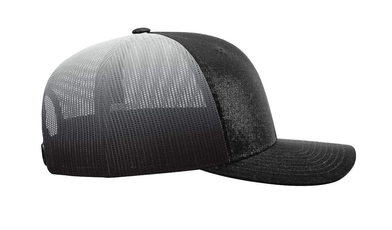 ac334fb6f3d Amazon.com  Custom Richardson 112 Hat with Your Logo Embroidered Trucker  Mesh Snapback Cap  Clothing