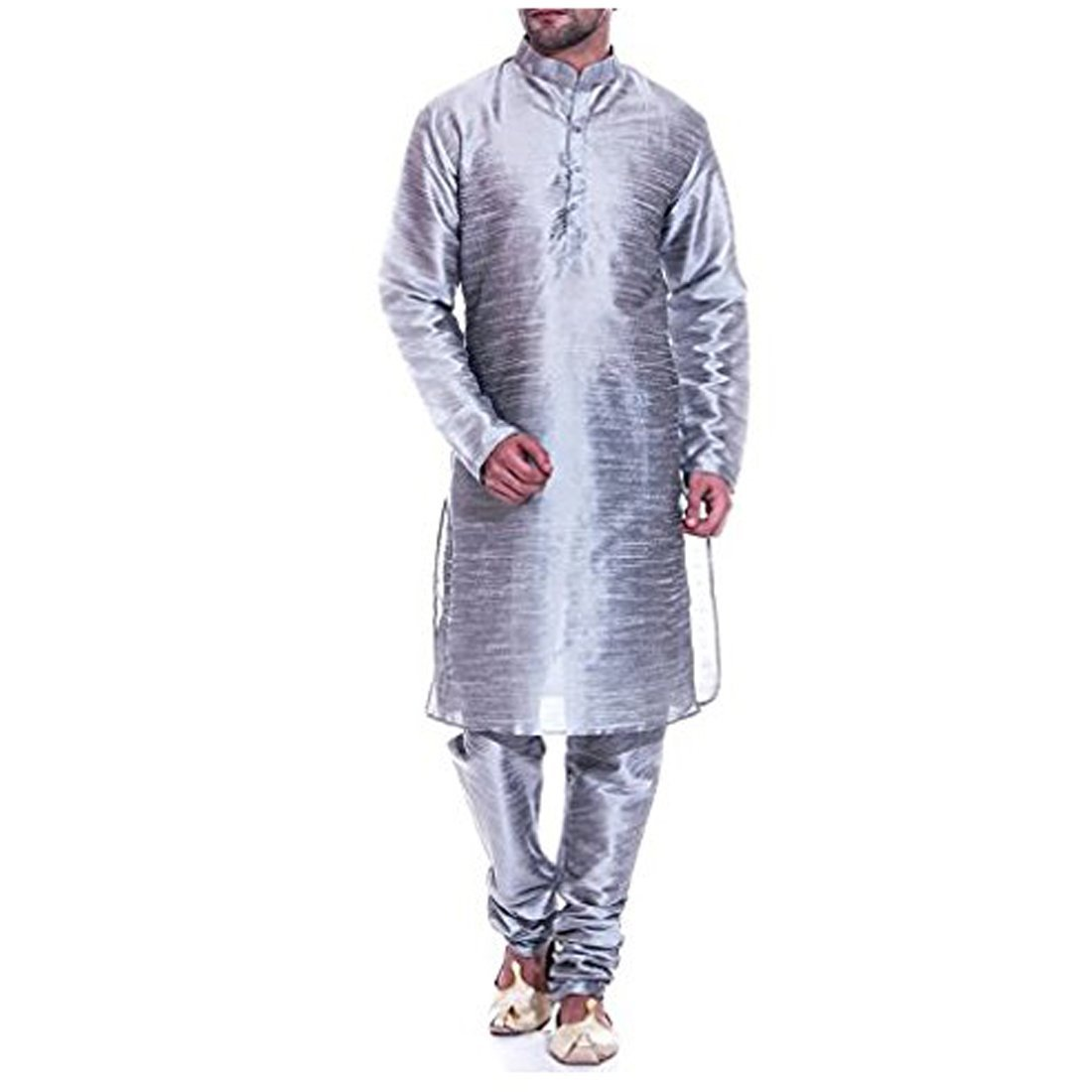 Royal Kurta Mens Silk Blend Kurta Pyjama Set ROYAL/_297-Large-$P