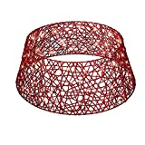 Red Lighted Woven Christmas Tree Collar