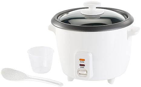 Rosenstein & Söhne Kocher: Reiskocher mit Warmhaltefunktion, 400 Watt, 1 Liter Fassungsvermögen (Reisgarer)