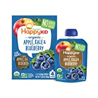 Happy Squeeze Organic Superfoods Twist Organic Apple/Kale/Blueberry, 3.17 Ounce Pouches (Pack of 16)