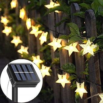 Guirnalda de luces solares para jardín, 23 pies, 50 luces LED ...