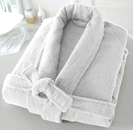 Casabella Uni Sex 100% Cotton 500 Gsm Terry Towelling Shawl Collar Bath  Robe Dressing Gown White Large X-Large  Amazon.co.uk  Kitchen   Home 3134b8b45