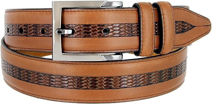 "Lejon Bayside Full Grain Waxy Glove Leather Dress Belt 1-3//8/"" Black Made in USA"