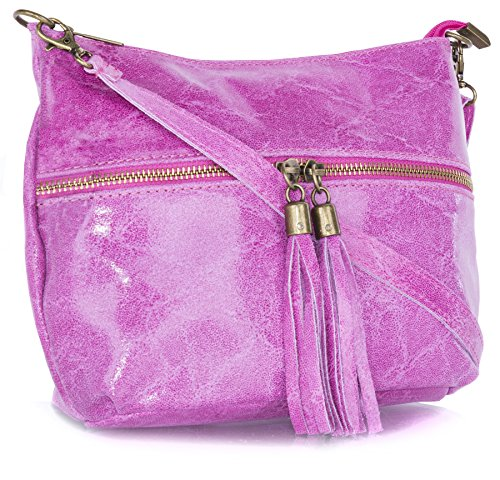 Big Handbag Shop - Bolso bandolera mujer hot pink