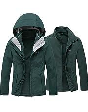 cffc0cd561 Diamond Candy Women s 3 in 1 Winter Jackets with Hood Waterproof Rain Coat  Softshell Warm Jacket