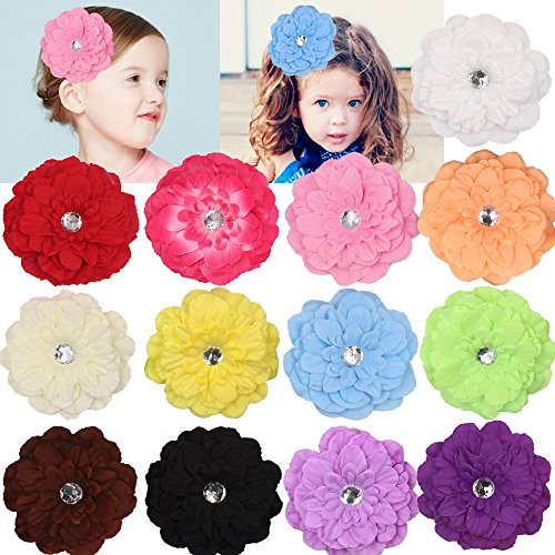 "Mix Colors 4"" Calendula Hair Daisy Flower Clip Baby Girl Chi"