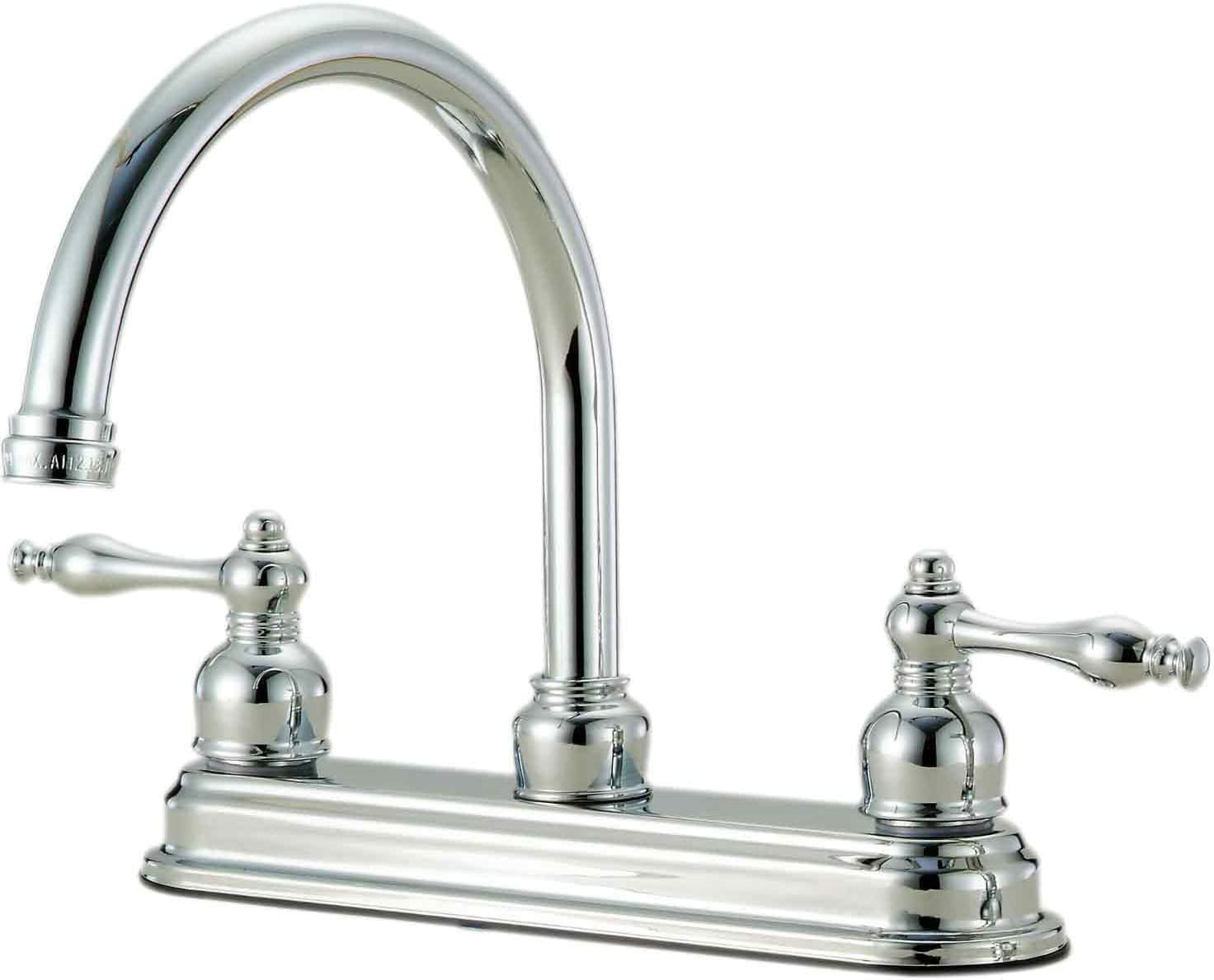 Hardware House 12-4324 Two-handle Kitchen Faucet Chrome