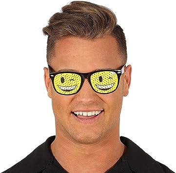 Gafas Emoticono Carita guiño / Amarillo-Negro / Accesorio para ...