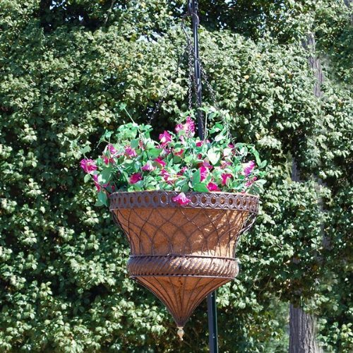 Victorian Parasol Hanging Planter 14 Inch Bronze by Griffith Creek Designs