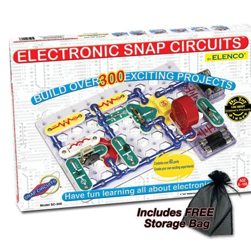Electronic Snap Circuits - 300 with FREE Storage Bag -