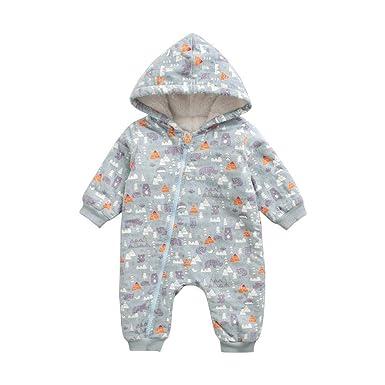 ca7119084 Amazon.com  SUPERON Newborn Baby Girls Boys Cute Cat Print Romper ...