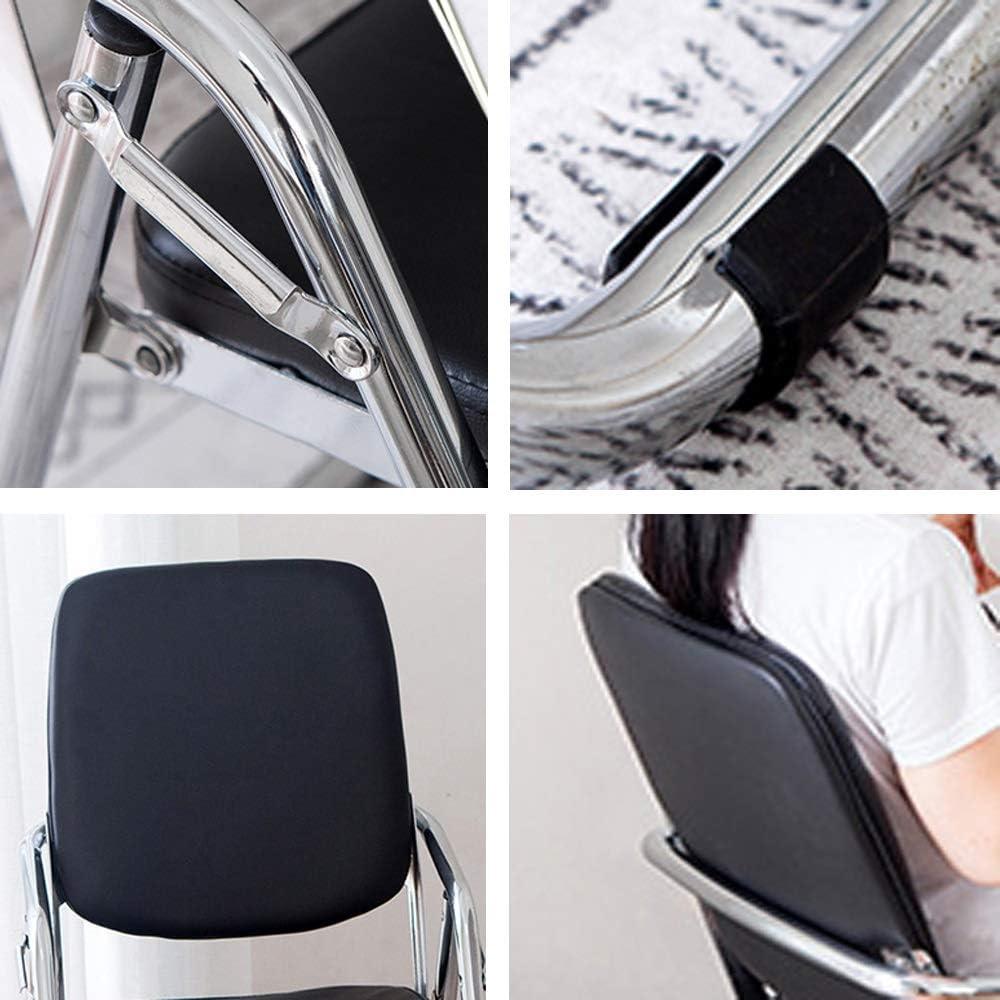 Color : A Silla Plegable Etc. Esponja De Tubo De Acero Grueso De Respaldo Adecuada para Estudio Oficina Dormitorio