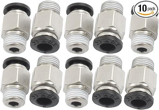 Tubo neum/ático de 8 mm 2 unidades acoplamiento r/ápido de rosca PT de 1//4 pulgadas
