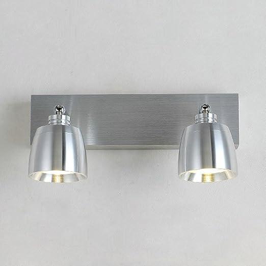 Luz de espejo LED Moderno Simple Lámpara de espejo acero inoxidable clásico  pared impermeable giratoria Iluminación ba022f27581d