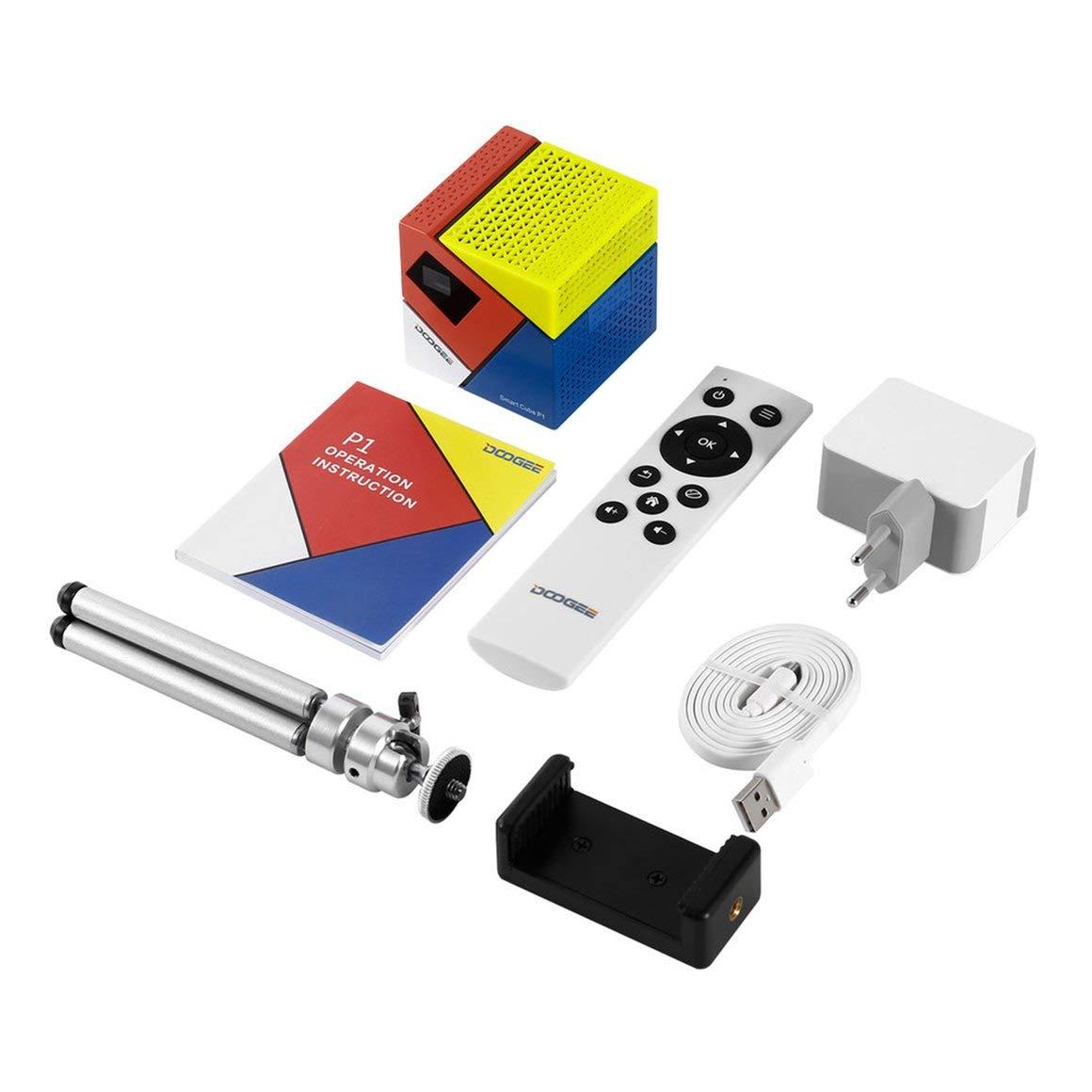 Funnyrunstore DOOGEE Cube P1 Smart FHD Mini LED 3D Inicio Juegos ...