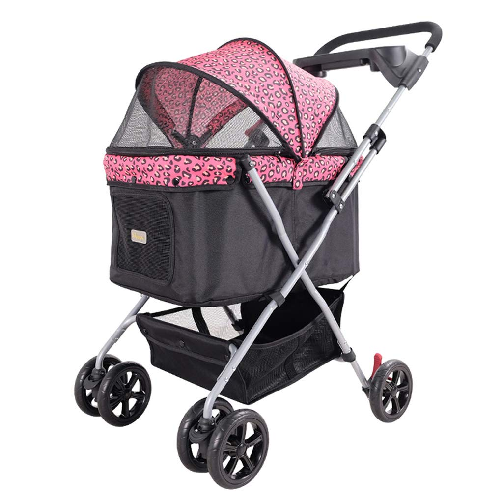 B Jlxl Pet Stroller One Button Car Supplements Travel Cat Can Carry 20kg Folgeble Four Seasons Roof for Space Space Space Space Spaziose Comfortable EVA Tires (Colore: B)