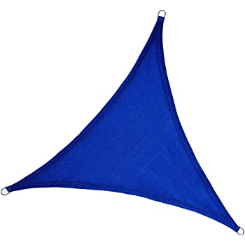 E.share 20x20x20 Triangle Blue Sun Shade Sail Perfect UV Block for Outdoor Patio Garden