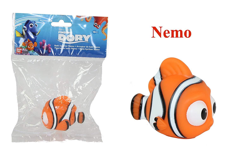 Dory Nemo /& Little Dory S3 Bandai Disney Pixar Finding Dory Bath Toy Squirter 4 Pack Destiny