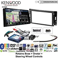 Volunteer Audio Kenwood Excelon DNX994S Double Din Radio Install Kit with GPS Navigation Apple CarPlay Android Auto Fits 2004-2006 Pontiac GTO With Bose, Onstar, SWC