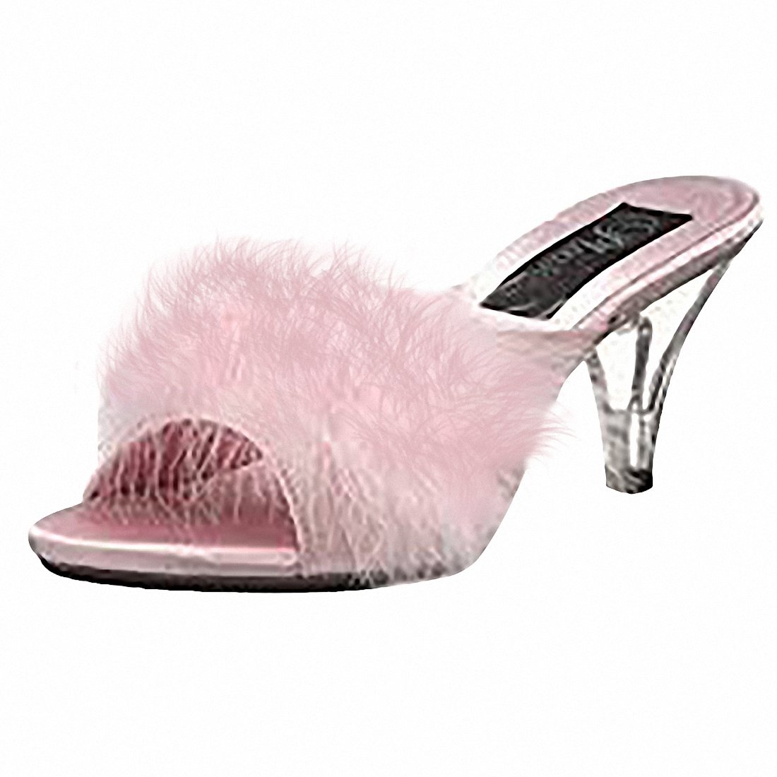 Pleaser Fabulicious BELLE-301F Women Sandal B074F31W1Z Satin-fur/Clear 9 B(M) US|Baby Pink Satin-fur/Clear B074F31W1Z 7fb219
