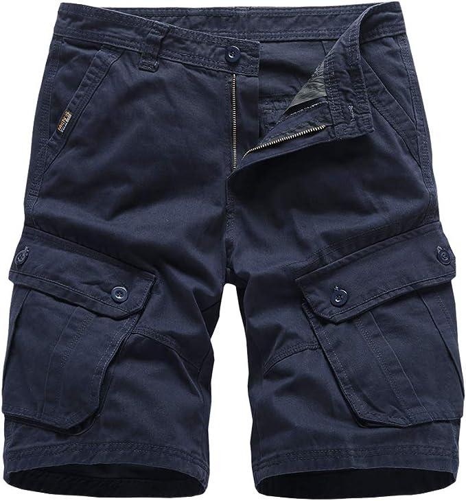 Pantalones Cortos Hombre Bermudas Cargo Pantalones Verano Casual Algodón Pantalón Corto: Amazon.es: Ropa y accesorios