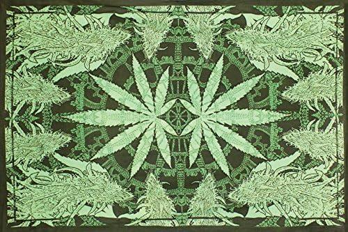 Sunshine Joy Hempest Marijuana Leaf Tapestry Beach Sheet Wall Art Huge 60×90 Inches