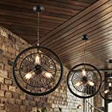 DYBLING Vintage American country creative children's rooms living room bedroom Pendant lights ceiling lamp Industrial Air fan ,42cm