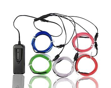 Elektrolumineszenz-Draht (EL Wire) Splitter 5 X 1 Meter Glowing ...