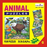 Creative Educational Aids 0706 Animal Puzzle No. 6 (30 to 48 Piece)