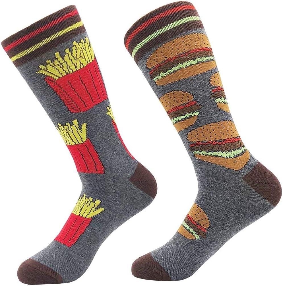 KoolHour Mens Fun Crew Socks Novelty Crazy Colorful Cotton Casual Dress Socks