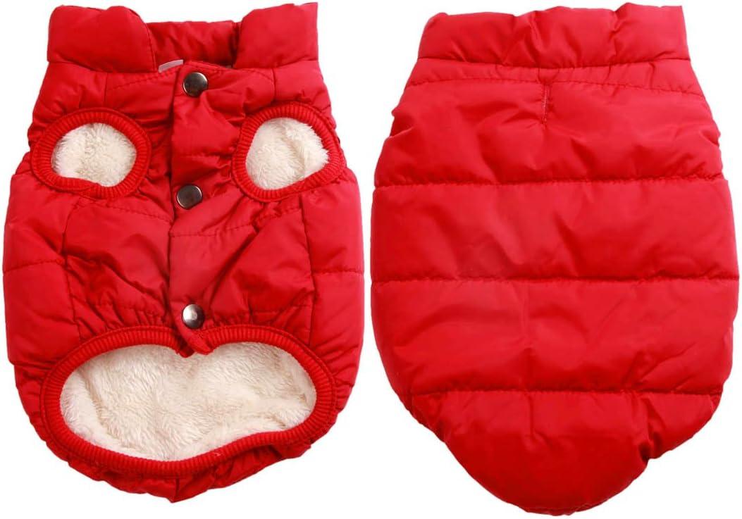 JoyDaog - Chaqueta de perro con forro polar de 2 capas para invierno y clima frío, extra suave, a prueba de viento, para cachorro y perros pequeños