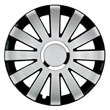 14 pulgadas tapacubos Onyx Duo (Plata/Negro). Tapacubos CON Anillo Cromado apto para casi todos los VW Volkswagen: Amazon.es: Coche y moto