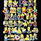Debon Luggage Tags Stickers The Simpsons Family Sticker Decal Label for Cars PC IPAD Bumper Skateboard Helmet Auto Bikes Ride Patches Truck Funny Cartoon Waterproof Removable Wall Decals Gift for Kid