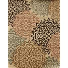 Feraghan/New City hil1044beige_8x11 Brand New Contemporary Modern Floral Flowers Area Rug, 8' x 11', Brown/Beige