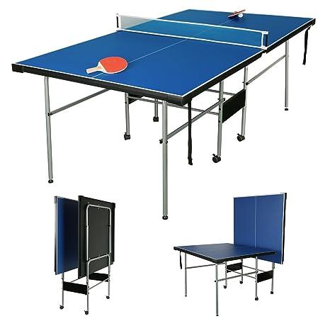 Hlc Tavolo Da Ping Pong 206 X 1145 X 76 Cm 213 M Per Bambini Dimensioni 34 Pieghevole Con Rete Palline Racchette Gambe Pieghevoli