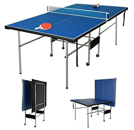 hlc 3/4 Junior tamaño Mesa de Ping Pong Plegable Mesa: Amazon.es ...
