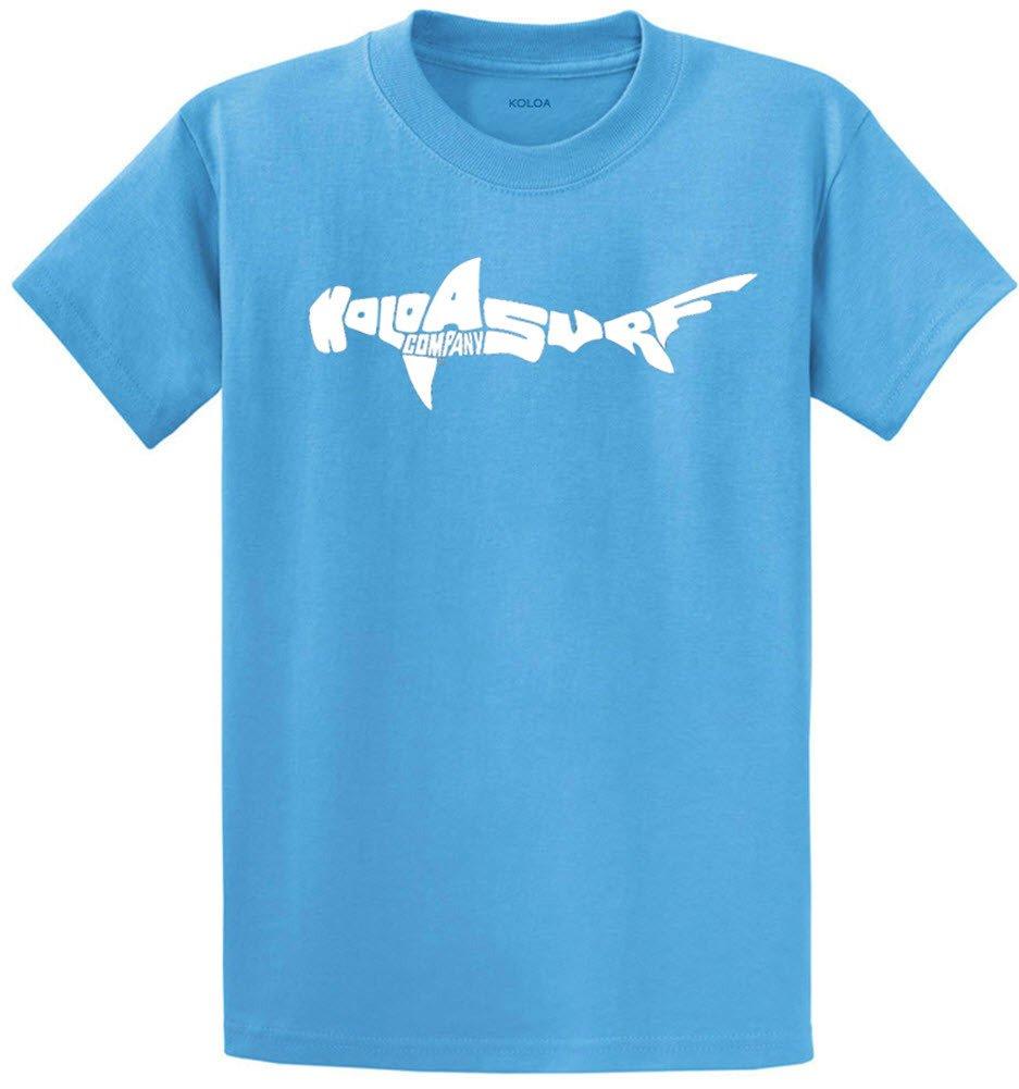 Joe's USA Koloa Surf カスタムグラフィック重量系コットンTシャツ レギュラー、ビッグ、トール B06Y53YZ28 5L,Aquatic With White Logo