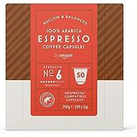 by Amazon Cápsulas Espresso, compatibles con Nespresso - 50 cápsulas
