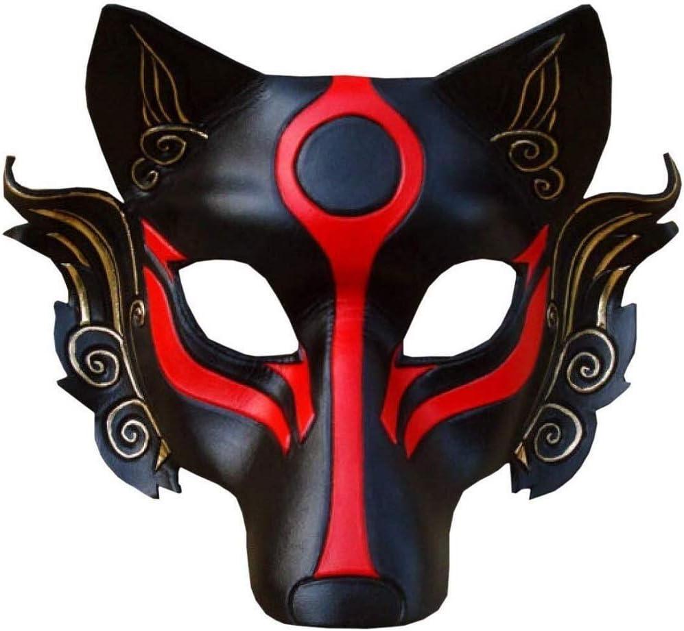 LLZK Máscara Japonesa Especial Máscara Hombres Lobo Guerrero ...