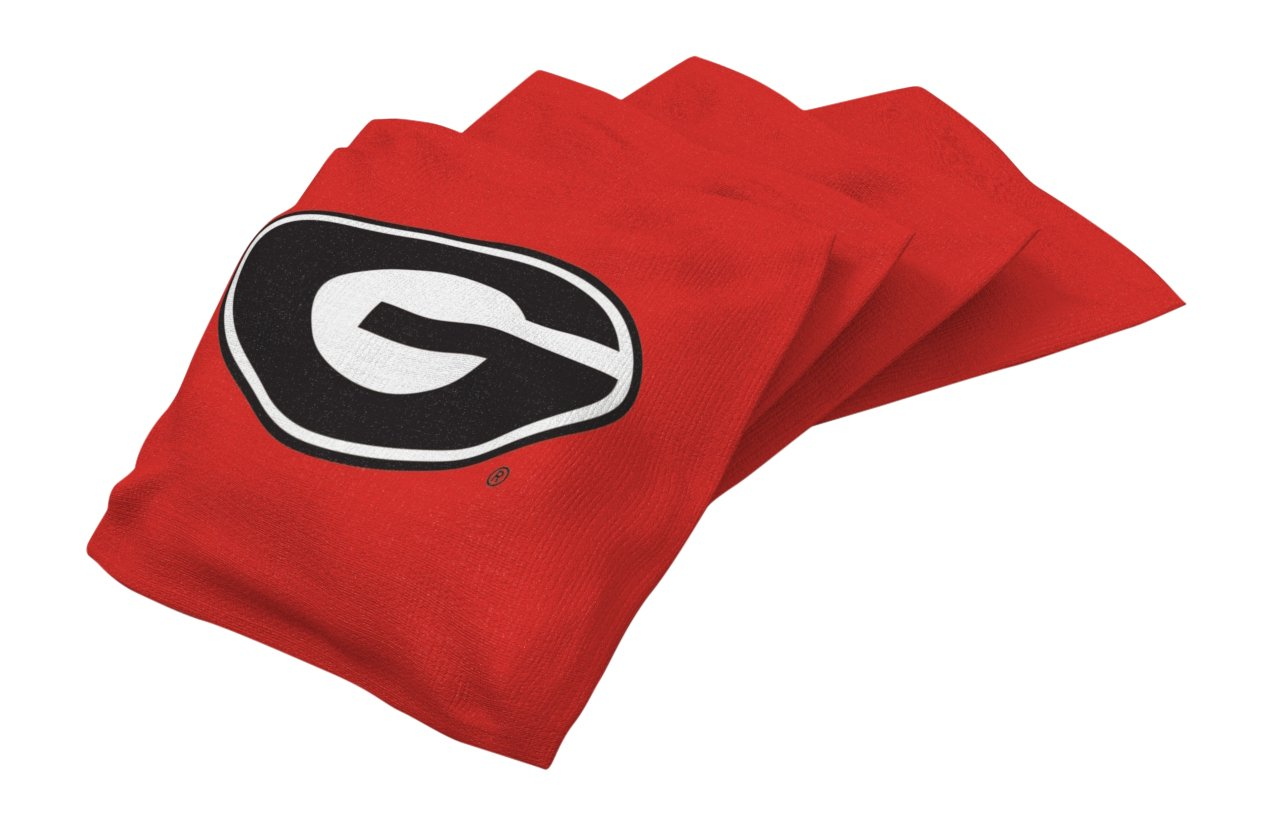Wild Sports NCAA College Gonzaga Bulldogs Red Authentic Cornhole Bean Bag Set (4 Pack)