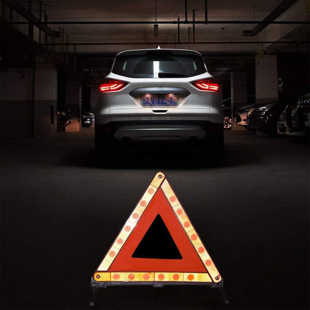 Foldable Emergency Reflector Roadside Hazard Sign Warning Triangle