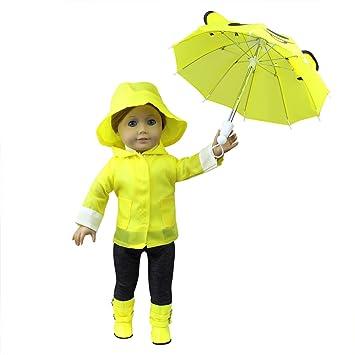 Amazon.com: Zita ELEMENT 6 Pcs Ropa de Rain Coat Doll para ...