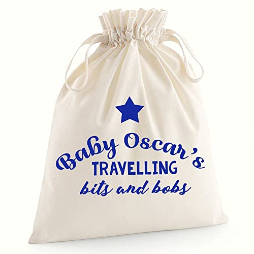 Personalised babies travelling bits and bobs canvas pouch cotton personalised babies travelling bits and bobs canvas pouch cotton drawcord bag baby shower gifts personalised baby negle Choice Image