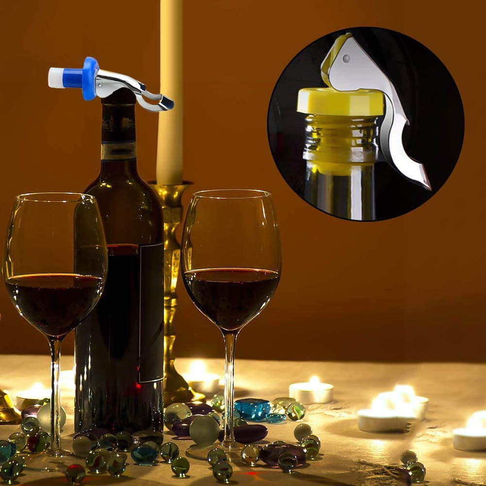 iufvbgxdh 10 Pieces Reusable Silicone Wine Stoppers Wine Bottle Cork Beverage Bottle Stoppers for Wine Beverage Supplies