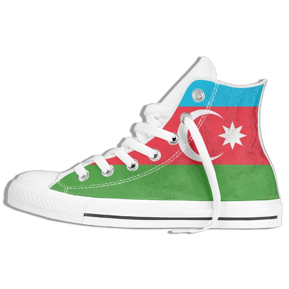 GoOutdoor Flag Of Azerbaijan Runnin High-top Canvas Shoes Lace-up Sneakers Unisex
