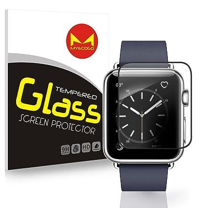 Apple reloj templado vidrio Protector de pantalla, iWatch película de cristal templado para Apple reloj