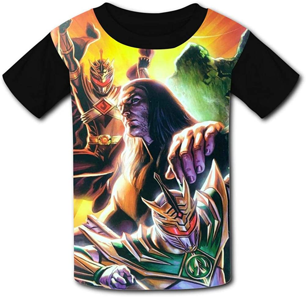 Lance Walters Pow-er-Ran-gers T Shirt Short Sleeve Crewneck Sports Tee Top for Boys and Girls